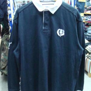 Cotton TRADERS コットントレーダース コットン 長袖ラガーシャツ 濃紺 (XL)