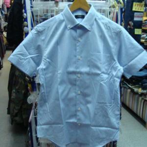 Paul Smith ポールスミス 半袖BDシャツ 水色ストライプ (M)
