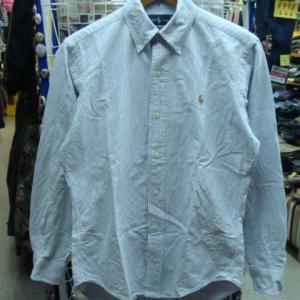 Polo Ralph Lauren ポロラルフローレン 長袖BDシャツ ストライプ (S)