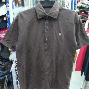 バーバリーブラックレーベル 鹿の子 半袖シャツ ダークグリーン (size1)