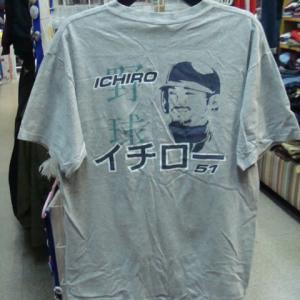 イチロー 51 半袖Tシャツ 灰 (L)