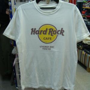 【使用感強め】 Hard Rock Cafe ハードロックカフェ 上野駅東京 Tシャツ 白