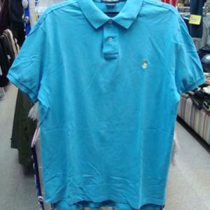 Polo Ralph Lauren ポロラルフローレン 鹿の子 半袖 ポロシャツ サックス L