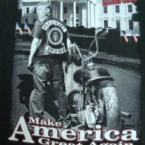 Daytona Beach Bike Week 2017 Donald Trump Tシャツ M