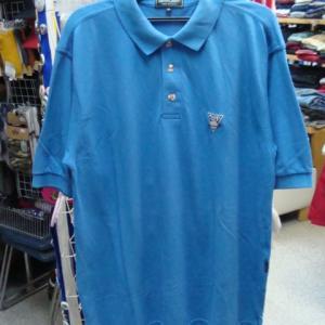 PLANET GOLF プラネットゴルフ 鹿の子 ポロシャツ ブルー 表記M・大きめ USA製