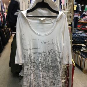 ディーゼル DIESEL 七分袖 カットソー フード付 ロング Tシャツ 白 レディース XS