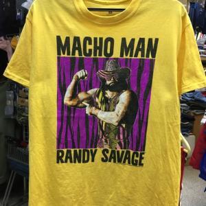 マッチョマン ランディサベージ Randy Savage Tシャツ WWF WCW 黄色 M