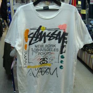 【状態難あり】 STUSSY ステューシー 半袖Tシャツ 白 (M)