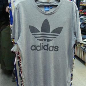 【使用感強め】 adidas アディダス トレフォイル コットン 半袖Tシャツ グレー 2XO