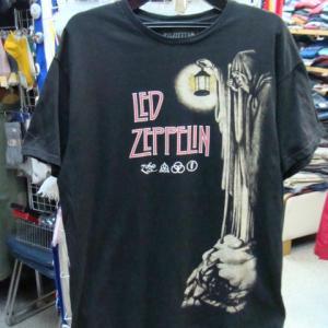 LED ZEPPELIN レッド・ツェッペリン 半袖Tシャツ 黒 (L)