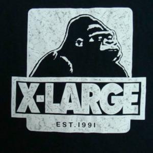 XLARGE エクストララージ コットン 半袖Tシャツ ネイビー (M)