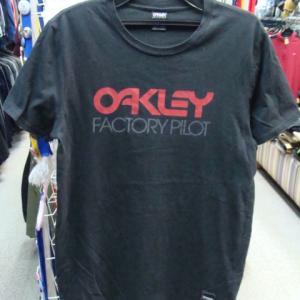 OAKLEY オークリー コットン 半袖Tシャツ 黒 (M)
