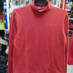 【状態難あり】 パーリーゲイツ ストレッチ 長袖ハイネックシャツ レッド (size2)