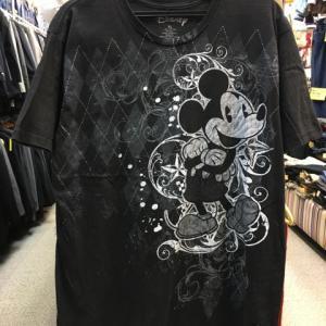 Disney ディズニー MICKEY MOUSE ミッキーマウス 半袖 Tシャツ 黒 XL