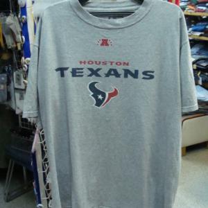 【使用感強め】 NFL ヒューストン・テキサンズ 半袖Tシャツ グレー (L・大きめ)