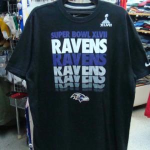 NFL ボルティモア・レイブンズ 半袖Tシャツ 黒 (XL)