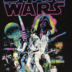 STAR WARS スターウォーズ エピソード4 新たなる希望 ルーク ポスター Tシャツ M