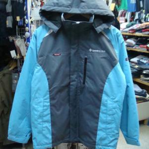 TULTEX タルテックス ポリエステル 中綿 ワークジャケット 灰×水色×白 (S)