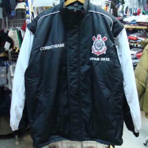 【未使用品】 SCコリンチャンス・パウリスタ 中綿ジャケット 黒×白 (XL)