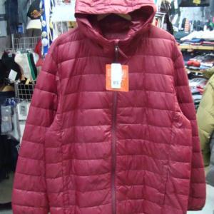 【大きいサイズ・未使用品】 B&T CLUB ライトダウンジャケット  赤 X2(4L~5L)