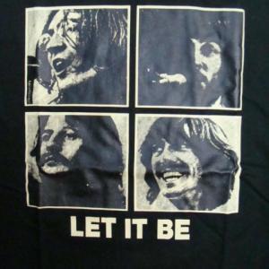 【未使用品】 The Beatles ザ・ビートルズ Let It Be 半袖Tシャツ 黒 L