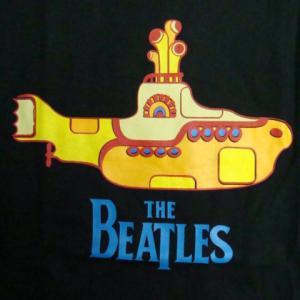 【未使用品】 ザ・ビートルズ Yellow Submarine 長袖Tシャツ 黒 (L)