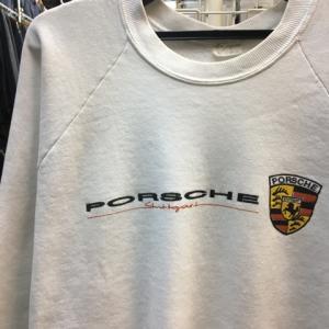 USA製 90s ヴィンテージ PORSCHE ポルシェ スウェット トレーナー 白 XL