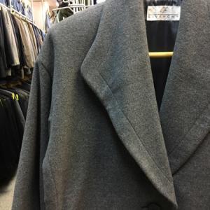 GIVENCY LIFE ジバンシー ウール コート 肩パッド入り グレー オーバーサイズ 9号
