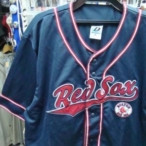 【破れあり】 MLB ボストンレッドソックス ユニフォーム ネイビー (XL)