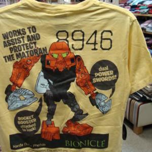 LEGO レゴ BIONICLE バイオニクル 8946 Tシャツ イエロー (M)