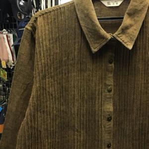藍工房 切替 デザイン シャツ ジャケット 長袖 コットン100 ブラウン 羽織物 M-L