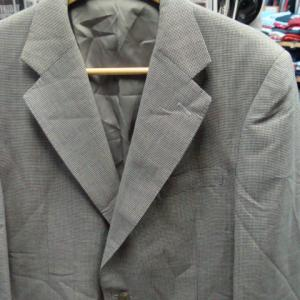 90s' バーバリー モヘア・シルク混 千鳥格子 テーラードジャケット (100-90-180)