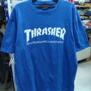 THRASHER スラッシャー 半袖Tシャツ 青 (大きめ)