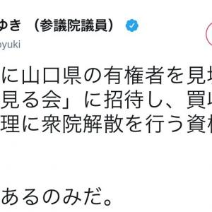 小西ひろゆき「買収犯罪を犯した総理に衆院解散を行う資格ない。内閣総辞職あるのみ」