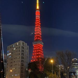 東京タワー、中国カラーでお出迎え「新年快楽!」習近平氏の来日控え