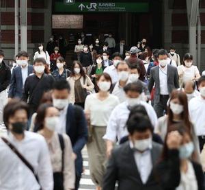 東京、朝の混雑戻らず 緊急事態解除一夜明け