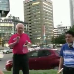 大村知事のリコール運動をしていた男性に暴行の疑い 男を逮捕 大声出して妨害も 男は容疑を否認