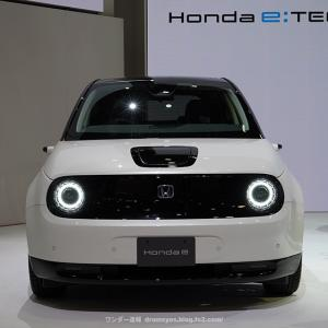 【見た目で欲しくなる!】Honda e(ホンダe)見てきた!内装ハイテクのギャップ萌え?!