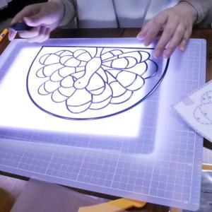 グラスアート教室とProcreateで描いた絵
