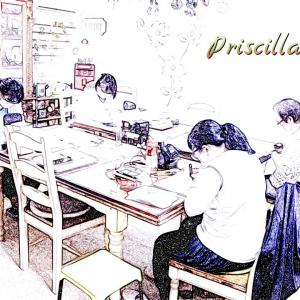 プリシラ工房・グラスアート教室 現在は4名様までのレッスンです