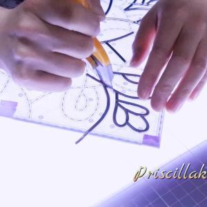 グラスアート教室・別たちを使う額縁カットの調整