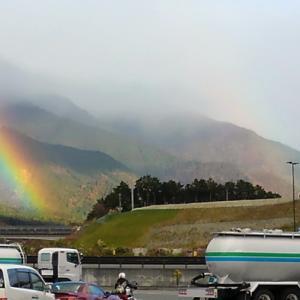 虹と共に 竹生島参拝