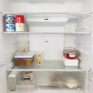 冷蔵庫のガラーン!と密が過ぎる昼。