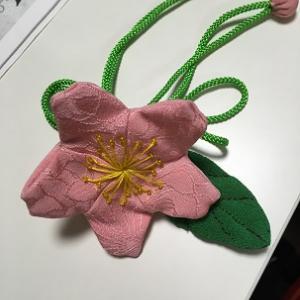 縮緬細工教室、桜の花作り!