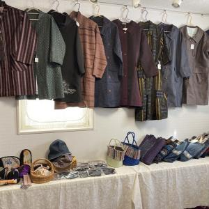 「着物リメイクと和雑貨展」展示準備完了♬