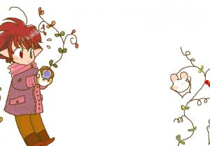 2007年に描いたらしい らいちゃん。
