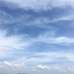 夏の午後の空
