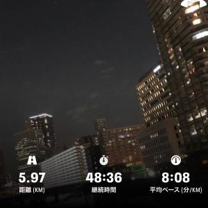 在宅勤務初日のジョギング