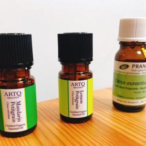 3つのプチグレン精油の嗅ぎ比べ