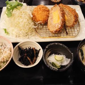 地蔵 (ジゾウ)@大泉学園 「チーズ入りメンチ勝つとカニクリームコロッケ御膳」
